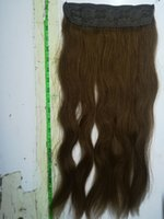 ELIBESS 14 '' - 28 '' 100g # 6 Chestnut Brown Color Straight Invisible Secret Flip / Halo in Human Hair Extension، 100٪ Remy Human Hair Extensions