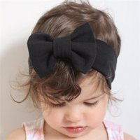 Factory sale Baby Girls Bow Headbands Children Cotton Bowkno...