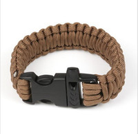 auto di soccorso di emergenza bracciali braccialetto del fischio di sopravvivenza di paracord all'aperto fascino sopravvivenza esercito kit corda braccialetto fatti a mano braccialetto
