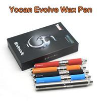 Autêntico Yocan Evolve Kit Vaporizador De Cera De Quartzo Dupla Bobina Vape Pen Kit E Kits De Cigarro Com Spare QDC Bobina Dab Pen 100% Real
