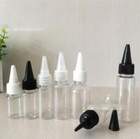 10ML القلم نمط زجاجة من البلاستيك PET القطارة مع غطاء المسمار طرف طويل فارغة E السائل الرسم الملون حبر الطباعة زجاجات واضحة