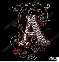 NICE New DIY 30 22cm letter A bling crystal patterns clothing accessories Hot  Fix Rhinestones motif Heat Transfer on Design Iron On clothes 5ae706cec462