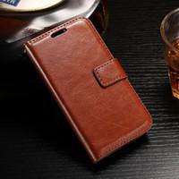 Custodie custodie per custodie da portafoglio flip a cavallo per Samsung Galaxy S9 Plus Huawei P10 Y3 Y5 Y6 II LG K8 Stilo 3 PAD CARD SLOT SLOT Copertura del telefono