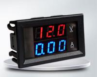Digital DC amperímetro del voltímetro de CC 100V 10A Tensión Corriente Meter la fuente de alimentación DC4.5V-30V LED azul rojo de doble pantalla