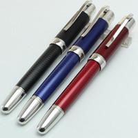 Novedad de lujo Diseño Blue Roller ball bolígrafos con clip de plata papelería suministros de oficina Pluma estilográfica / bolígrafo escribir marca Bolígrafos