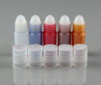 Заводская цена 3 мл пластиковые ролл-на бутылки с белыми крышками для ароматерапии эфирное масло, духи, блеск для губ, путешествия размер 500 шт. / лот по DHL