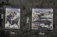 Mode 100 stücke 10 * 10 CM Durchsichtigen Kunststoff shopping tasche 10X10 cm Kunststoff Schmuck Tasche Mini Geschenk Beutel Für Boutique Kostenloser Versand
