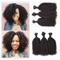 Virgin Brazilian Human Hair Bulk For Braiding Natural Black ...