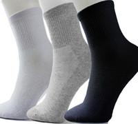 Wholesale-0,79 / paio Calzino da uomo Calzino corto da sport estivo in cotone Calzino sottile a metà polpaccio