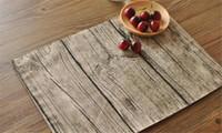 Hochwertige Tischsets Geschirr Matten Pads lebensecht Textur Bäume fotografiert Hintergrund Tuch Platzdeckchen personalisierte Servietten