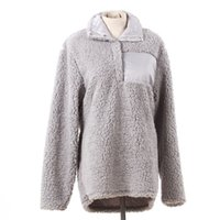 Fuzzy Sherpa Pullover long sleeve Soft pullover Women Winter...