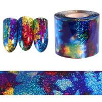1M Gradient Sternenhimmel Himmel Nagelfolie blau holographische Papieraufkleber Dekor Nail Art Aufkleber Dekoration Zubehör