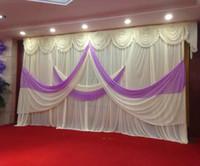 3m * 6m düğün Backdrop'u yağma Parti Perde festivali Kutlama Sahne Performansı Arkaplan saçak