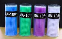 100Pcs / Hot Pack Lint monouso pennelli trucco della sferza specifica rimozione di Strumenti tampone Micro spazzole strumento di estensione ciglia