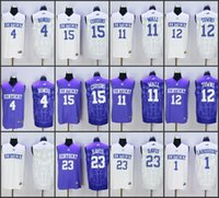 new style f9252 3b275 kentucky wildcats 11 john wall white basketball stitched ...