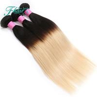 Gelecek Zaman Güzellik Saç Ürünleri Ombre Saç Uzantıları 7A Brezilyalı Saç Düz 3 Adet Işlenmemiş Brezilyalı 1B 613 Ombre Saç örgü