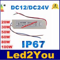 LED AC / DC Adapter 12V 24V 20W 50W 80W 100W 90V-265V Wasserdichter elektronischer Beleuchtungstransformator Schaltnetzteil Spannungswandler