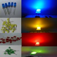 1000pcs 5mm bianco diffuso rosso blu verde giallo arancione LED led diodi 5mm diffusi rosso ultra luminoso rotondo LED luce spedizione gratuita