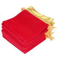 Бархат Drawstring мешки мешки золото сторона фланель сумки подарок мешок стекались ювелирные изделия сумка пользу держатели бархат drawstring мешок JF-279