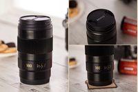 Taza de la lente de la taza de la lente Leica 350ML Taza de la lente de la envoltura negro Material de la categoría alimenticia LFGB