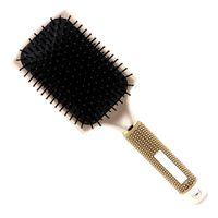 Rodada Punho De Borracha Lidar Com Elástico Pinos De Plástico Hairbrush Grande Airbag Cabelo Couro Cabeludo Massagem Cuidados Com Os Cabelos Styling Escova Em Estilo De Luxo