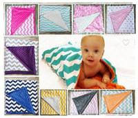 8 Farben-Punkt-Chevron-Baumwolle SwaddleMe Baby-Minky Wrap Decke Swaddling neugeborenes Kind Swaddle Handtuch Famous Multifunktionale