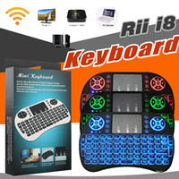 Air Mouse Control Remoto Mini Rii i8 Teclados Retroiluminación Multicolor Retroiluminado Con Gamepad 2.4GHz Teclado Inalámbrico Para Smart Android TV Box