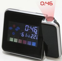 Upgrade fashion LED alarm clock night light table clocks dis...