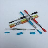 왁스 건조 허브 유리 프라이팬 atmos 마이크로 분무기 기화기 펜에 대한 새로운 스테인레스 스틸 전자 담배 dabber 도구 티타늄 잽 못