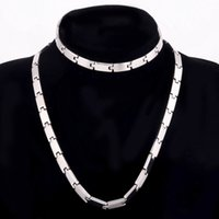 Men' s Chain Jewelry Set 8MM Gold Black Color Men Chain ...