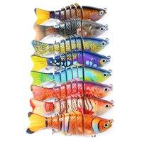 Новый пластиковый Woobbler рыболовную приманку соленой воды бас Crankbait 10 см 15.6 г 7 сегментов приманки с 6# рыболовный крючок