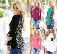 Women Leopard Long Sleeve Top Casual T- Shirt Ladies Loose Se...