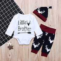 Newborn Baby Boys Clothing Little Brother Long Sleeve Bodysu...