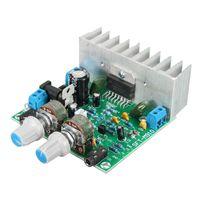 Freeshipping 15 W + 15 W AC / DC 12 V TDA7297 Dijital Ses Amplifikatör Kurulu Çift Kanallı Modülü