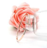 Strass Rose Gold Titanium Pulseira para As Mulheres Cuff Jóias de Prata Pulseiras Abertas Pulseiras Pulseiras Feminina frete grátis