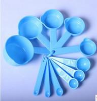 100sets / lot, quantité de lait à cuillère cuillère couleur café 11 pièce / ensemble cuillère à mesurer de cuisson outils de mesure gadget de cuisine
