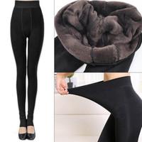 Kadınlar için tozluk Kadın Polar Tayt Kalın Kış Sıcak Yüksek Streç Bel Tayt Skinny Pantolon