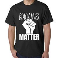 الجملة-شحن مجاني رجل t قمصان الموضة 2016 الأسود يعيش مسألة القمصان المتاحة! تي شيرت قطن إريك غارنر براون-بروتست 100٪