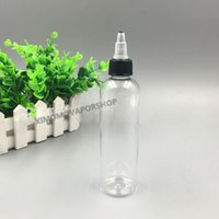 Gaga Kapak Gaga ucu Şeffaf PET E Liquid ile toptan 120ML Duman Yağ Gaga Şişeler Uzun Damlatıcı İpucu Plastik şişeler 4oz boşaltın