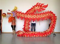 Um tamanho quente 5 # 7m 6 estudantes seda impressão tecido crianças dragão dança tv etlevas decoração viva carnaval exclusivo mascote costumes play