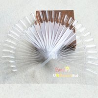 Wholesale- 32pcs set Natural Transparent Plastic False Nail ...
