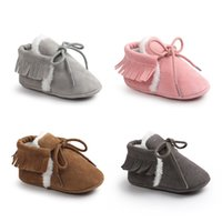 Baby Cotton- padded Shoes Frosted Tassels Infant Anti- slip So...