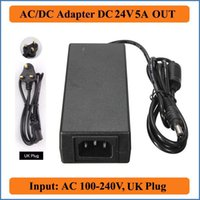 24V 5A UK Plug AC DC Adapter AC100-240V Converter to DC 24V 5A 120W Power Supply Charger Adapter For LED Strip lights/laptops