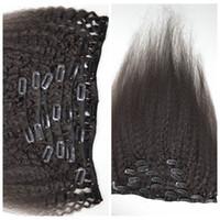 12-26 zoll 100g Indidan Vollen Kopf Clip in Menschenhaarverlängerung verworrene gerade natürliche Farbe Clip Auf Menschliches Haar schuss G-EASY