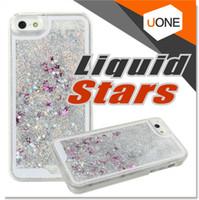 Para iPhone 7 Plus Caso Estrelas Bling brilhante e Glitter líquido de fluxo de água do Aqua Movable capa dura dinâmica para iphone 6 6S 7 Casos Nota