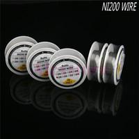 NI 200 Nikkeldraad NI200 Draadverwarmingsweerstand Coil Wick 30 Feet Spool AWG 22 24 26 28 30 32 Gauge voor RDA PK Nichrome 80 DHL