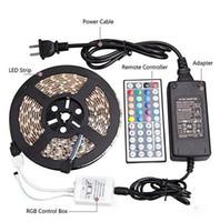 Strisce impermeabili IP65 5M 300 LED SMD 5050 RGB Luci Led strisce 60 leds M alimentazione + Telecomando + 12V 5A
