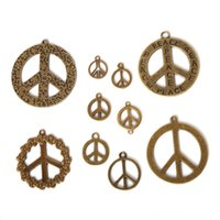 Wholesale peace sign pendant buy cheap peace sign pendant from free shipping new 56pcs lot mixed style zinc alloy antique bronze plated peace sign charms pendants diy jewelry handmade crafts jewelry mak audiocablefo