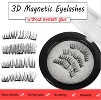 Three Magnetic No Glue Magnetic Eye Lashes 3D False Magnet E...