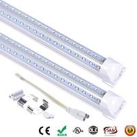 LED-Röhre 8 ft V-förmig Cooler Tür LED-Röhren T8 Integrierte Doppelseiten SMD2835 LED-Leuchtstoffleuchten AC 85-265V 2.4m 60w